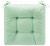 Sitzkissen Elli ca. 40x40x7cm - Hellgrün, Textil (40/40/7cm) - Based