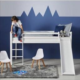 Spielbett Toby - Weiß, MODERN, Holz (207/218/110cm)