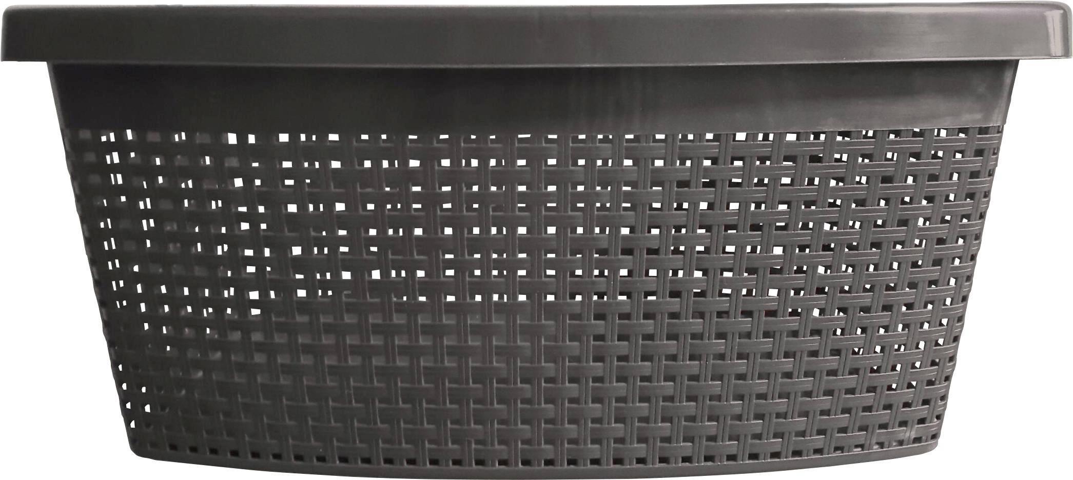 Ruháskosár Rita - antracit, műanyag (60/40/22cm) - MÖMAX modern living