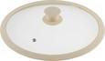 Deckel Marmor in Creme - Creme, ROMANTIK / LANDHAUS, Glas/Kunststoff (28cm) - Premium Living
