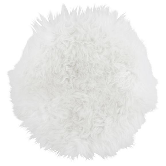 Stuhlkissen Sheep Weiß ca. 37cm - Weiß, MODERN, Textil (37cm) - Premium Living