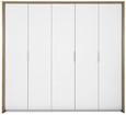 Omara Za Oblačila Florenz - aluminij/bela, Konvencionalno, umetna masa/leseni material (231/214/61cm) - Mömax modern living