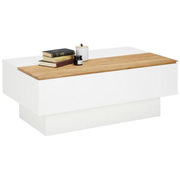 Couchtisch in Weiß - Weiß, MODERN, Holzwerkstoff (110/45/65cm) - Premium Living