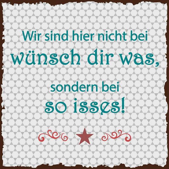 Glasbild Wünsch Dir, ca. 20x20x1,70cm - Multicolor, Glas (20/20/1,70cm)