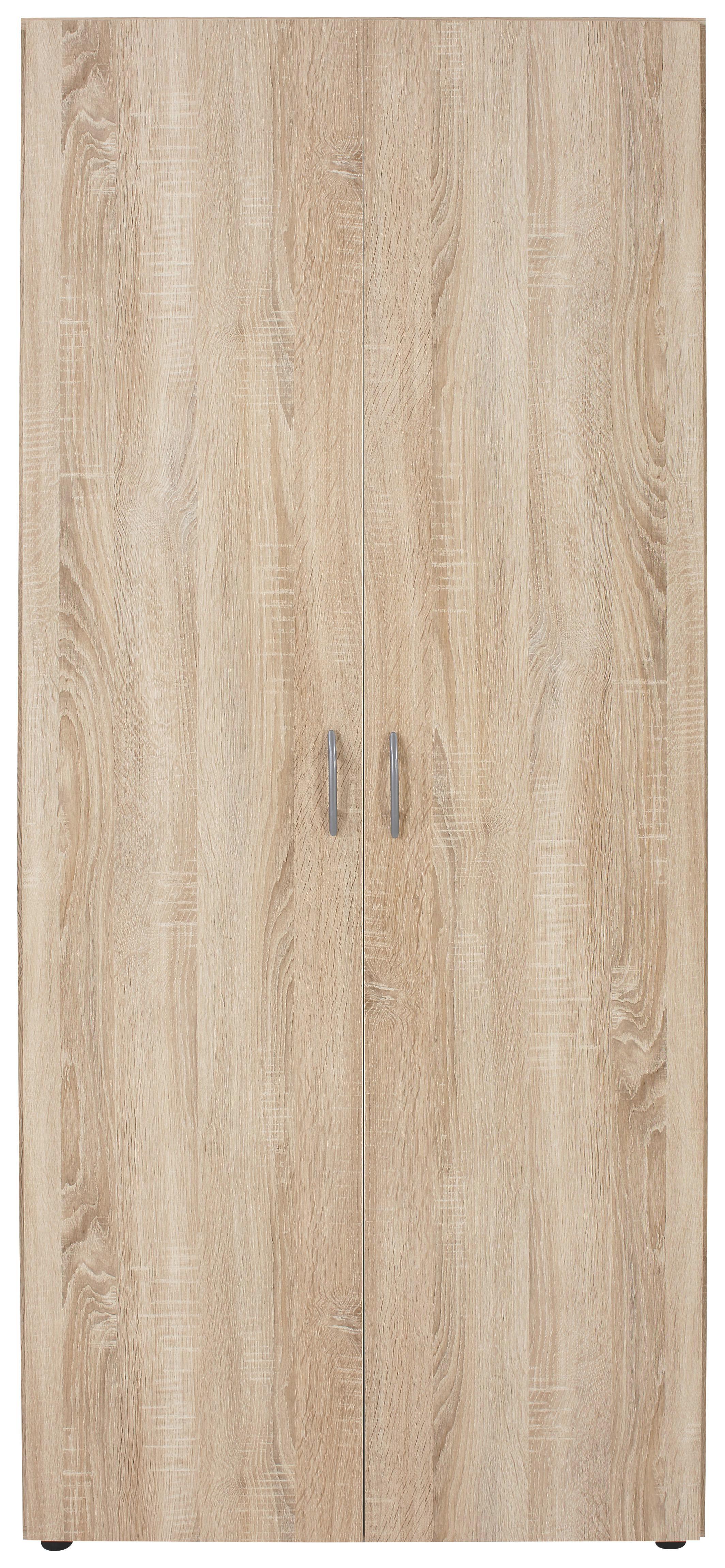 Ruhásszekrény Base 2 - tölgy színű, konvencionális, faanyagok (80/177/52cm)