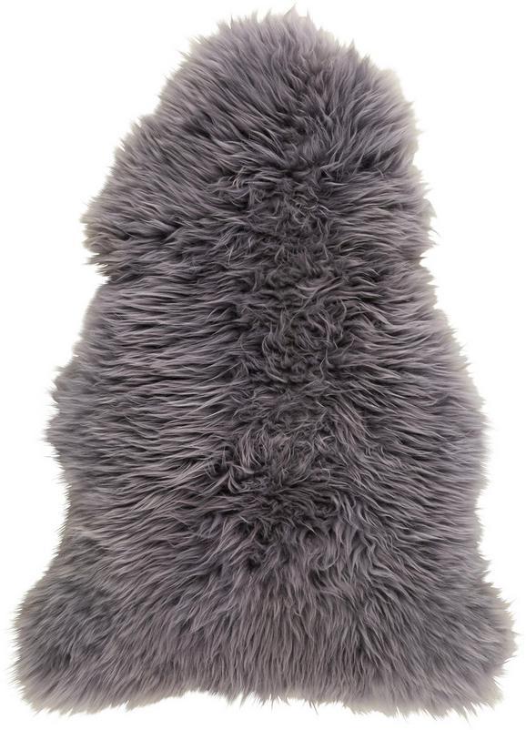 Schaffell Jenny in Grau, ca. 90x60cm - Grau, Textil (90-105/60cm) - Mömax modern living