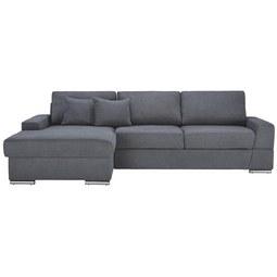 Kotna Sedežna Garnitura Kuba - siva, Moderno, umetna masa/leseni material (166/90/294cm) - Mömax modern living