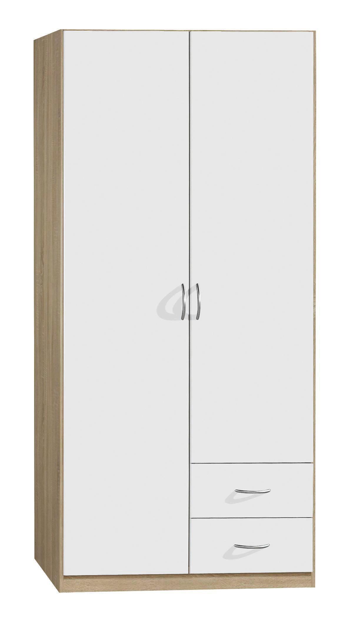 RUHÁSSZEKRÉNY CASE - modern, faanyagok (91/197/54cm)