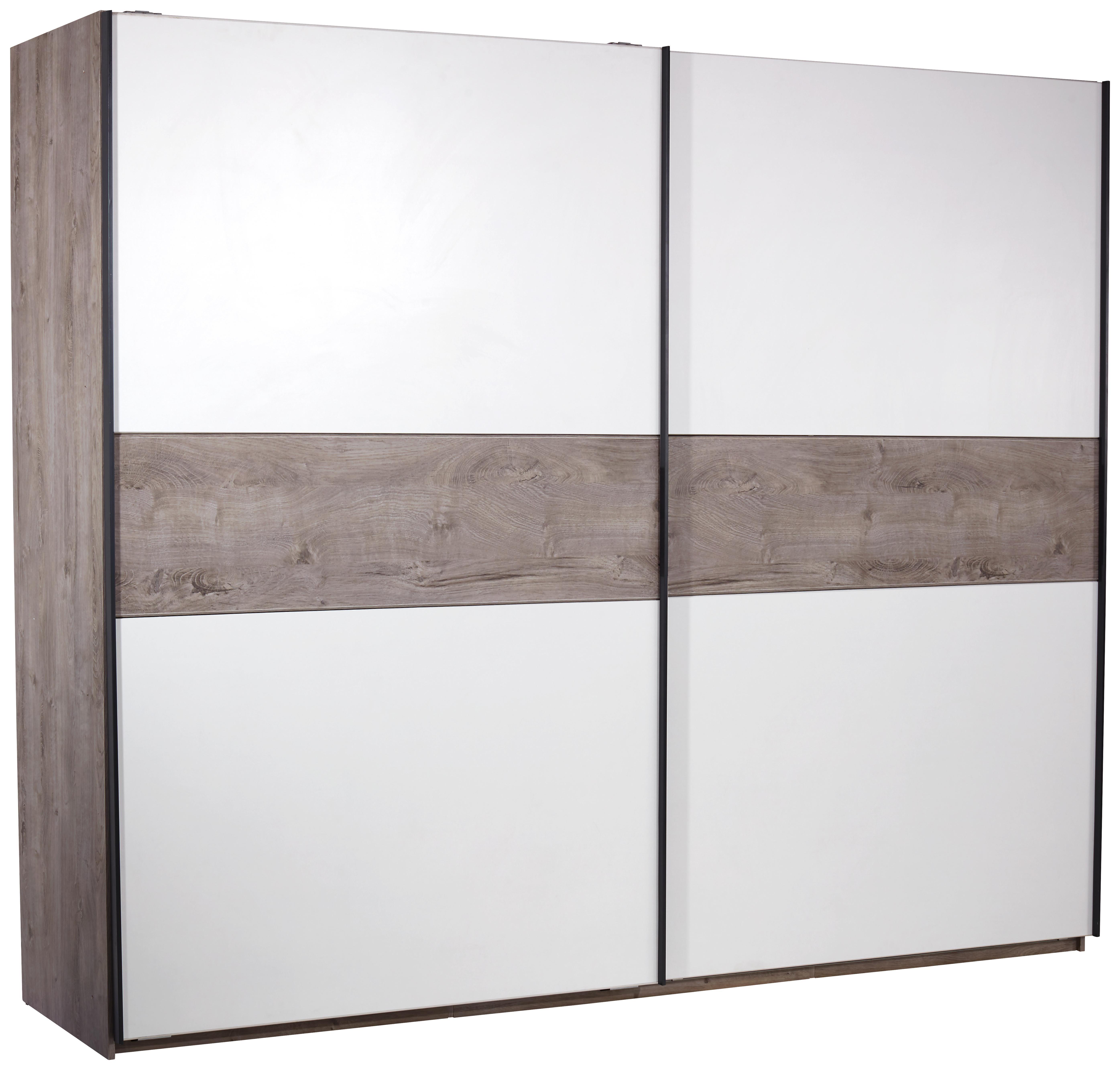Omara Z Drsnimi Vrati Julia - aluminij/bela, Konvencionalno, kovina/leseni material (315/225/61cm) - Mömax modern living