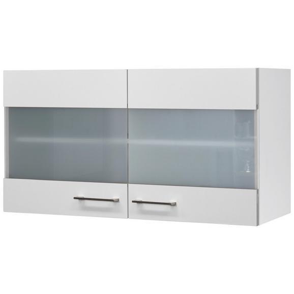 Küchenoberschrank Weiß - Edelstahlfarben/Weiß, MODERN, Holzwerkstoff/Metall (100/54/32cm) - FlexWell.ai
