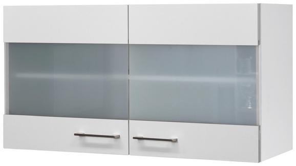 Küchenoberschrank Weiß - Edelstahlfarben/Weiß, MODERN, Holzwerkstoff/Metall (100/54/32cm)