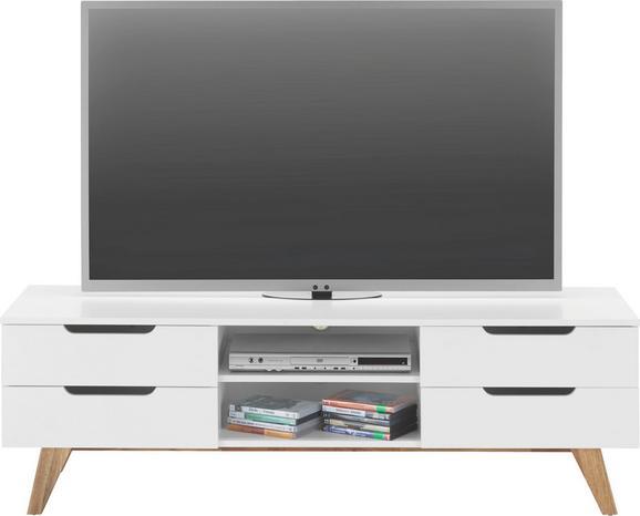 Médiaállvány Durham - natúr színek/fehér, modern, fa/faanyagok (150/47,5/45cm) - MÖMAX modern living