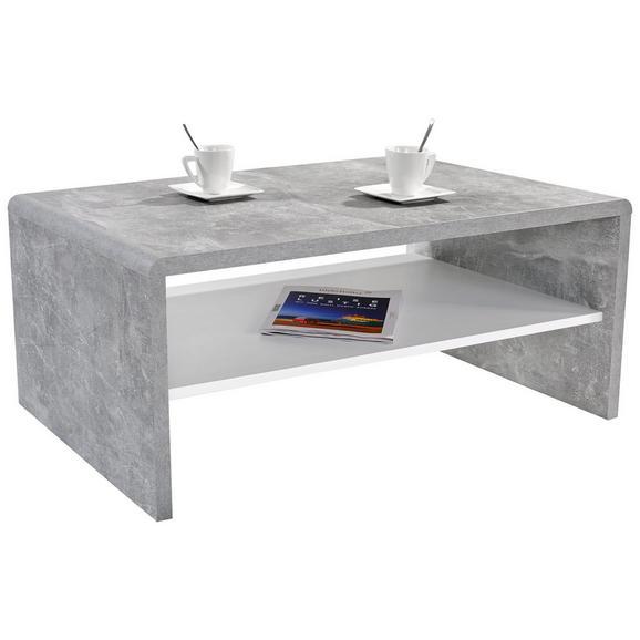 Măsuţă Cala Luna - alb/gri, Modern, compozit lemnos (100/40/59cm)