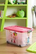 Aufbewahrungsbox Kiddys in Pink/transparent - Pink/Transparent, Kunststoff (60/38/32cm)