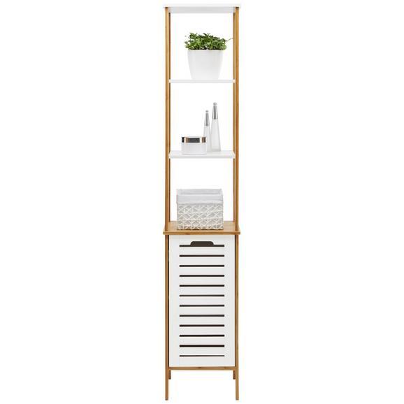 Badezimmerregal Weiß/Naturfarben - Weiß/Naturfarben, MODERN, Holz/Holzwerkstoff (30/159/30cm) - Modern Living
