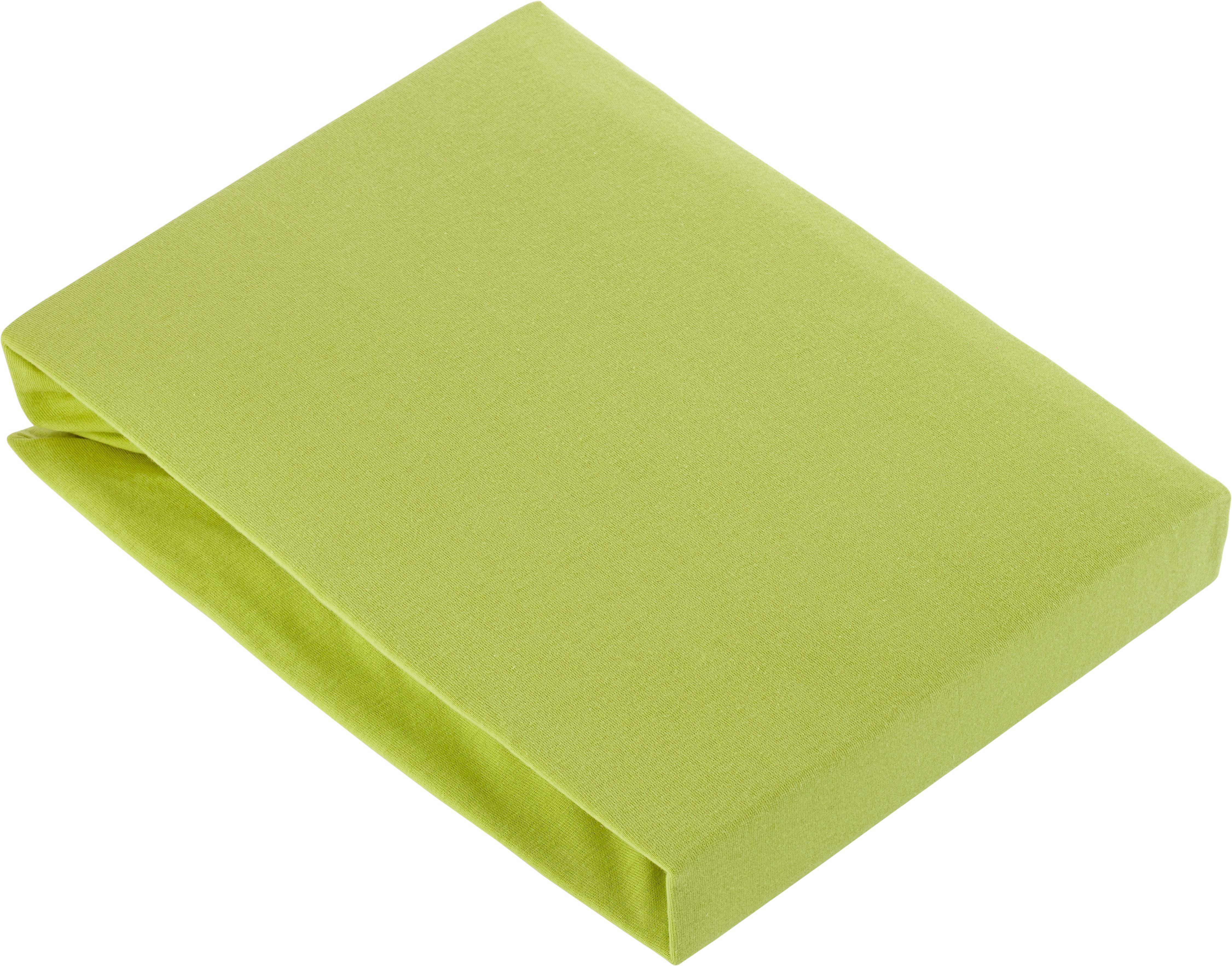 Spannbetttuch Basic in Grün, ca. 150x200cm - Grün, Textil (150/200cm) - MÖMAX modern living