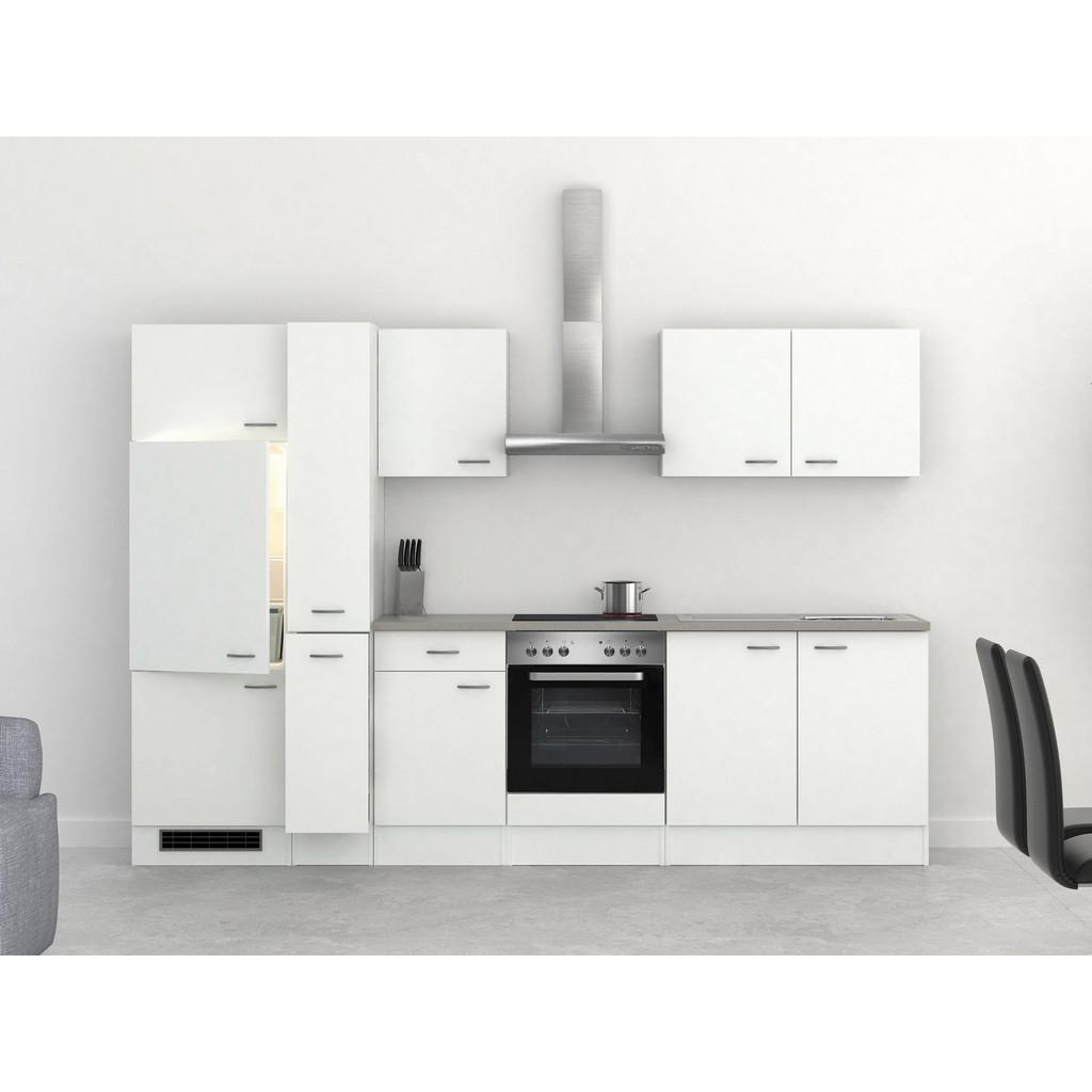 Küchenblock in Weiss inkl. Geräte und Spüle 'Eico'