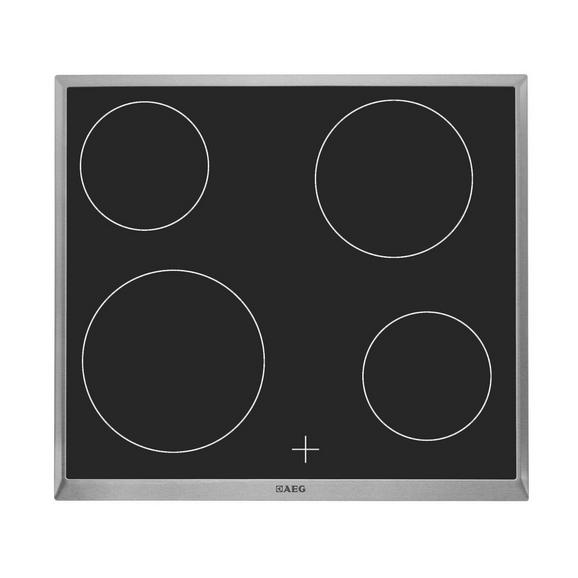 Glaskeramikkochfeld HE604000XB - KONVENTIONELL, Glas/Metall (57,6/3,8/51,6cm) - AEG