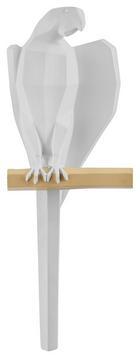 Wanddeko Parrot in Weiß - Weiß, MODERN, Kunststoff (11/29,5/7,5cm) - Mömax modern living