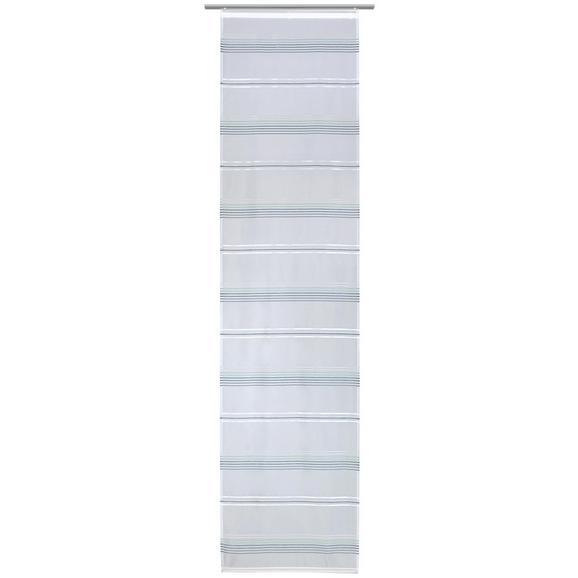Flächenvorhang Louis Weiß/Jade 60x245cm - Jadegrün/Weiß, KONVENTIONELL, Textil (60/245cm) - Mömax modern living