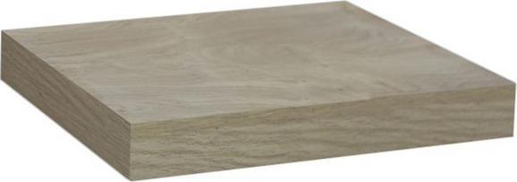 Falipolc Simple - Tölgyfa, modern, Faalapú anyag (23,5/3,8/23,5cm)