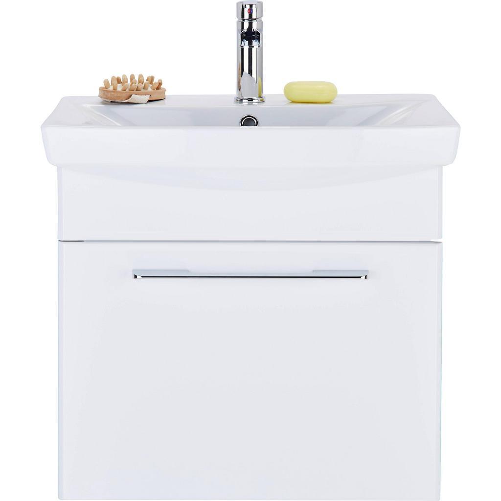Waschtischkombi Dunkelgrau/Weiß