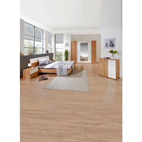 Dormitor Katrin - alb/culoare lemn stejar, Konventionell, compozit lemnos (225/210/58cm)