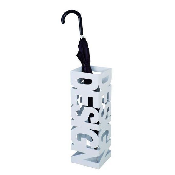 Schirmständer Weiß - Weiß, MODERN, Metall (16/48/16cm) - Mömax modern living