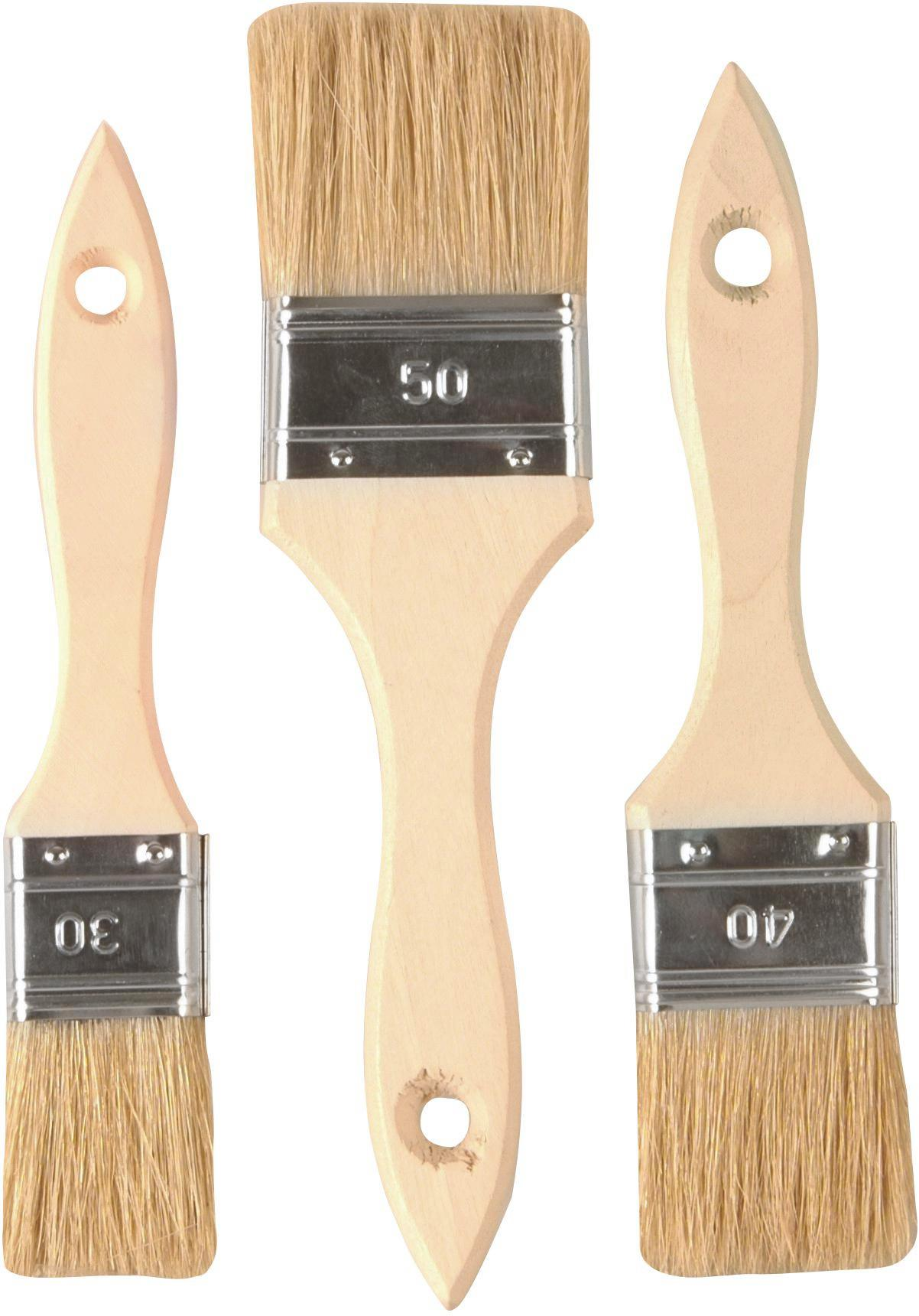 Pinselset Finn, 3-teilig - Holz/Metall