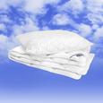 Bettdecke + Kissen Irisette ca.135x200/80x80cm - Weiß, KONVENTIONELL, Textil (135 x 200cm) - Irisette