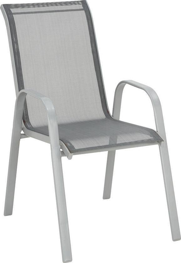 Stapelsessel Anthrazit - Anthrazit/Alufarben, Kunststoff/Textil (54/96/76cm) - Mömax modern living
