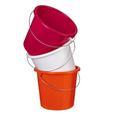 Eimer Rosi in versch. Farben ca. 5l - Pink/Orange, Kunststoff/Metall (5l) - Based