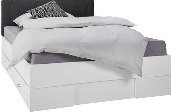 Bett weiß  Bett Weiß/Anthrazit 140x200cm online kaufen ➤ mömax