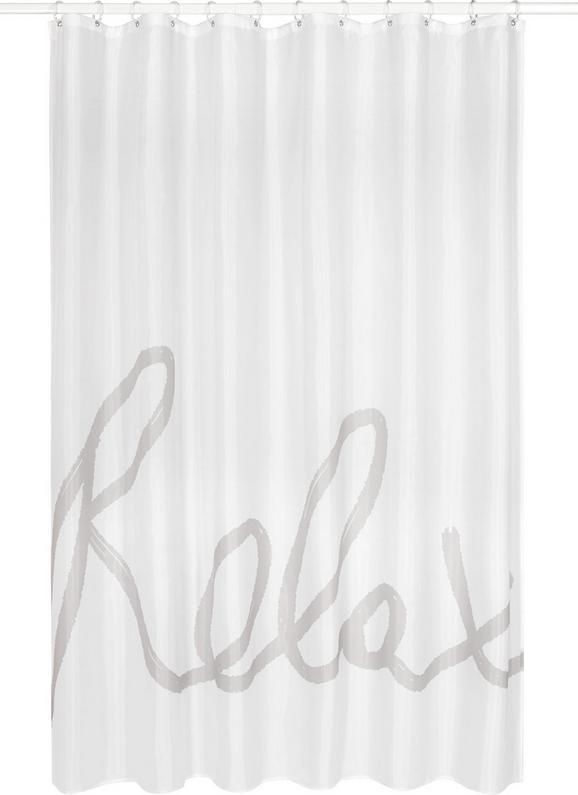 Duschvorhang Relax, ca. 180x200cm - Hellgrau/Weiß, MODERN, Textil (180/200cm) - MÖMAX modern living