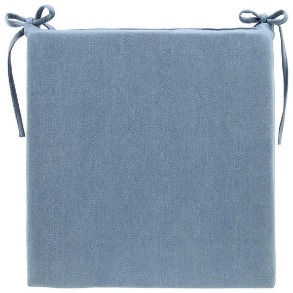 Sitzkissen Tessa Hellblau ca. 42x40cm - Hellblau, MODERN, Textil (42/4/40cm) - Bessagi Home