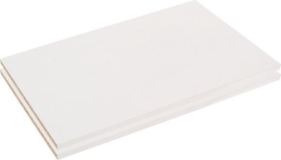 Belső Polc Szett Viktor4 Szekrényhez - fehér, modern, fa (83/2,2/48cm)