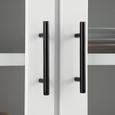 SIDEBOARD in Weiß/Grau 'Liana' - Weiß/Grau, MODERN, Glas/Holz (80l) - Bessagi Home