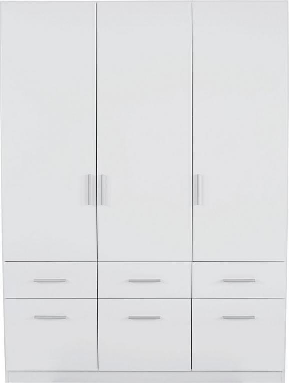 Omara Za Oblačila Celle - aluminij/bela, Moderno, umetna masa/les (136/197/54cm) - Premium Living