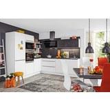 Eckküche Nolte Feel Portland Weiß - Weiß/Grau, Holzwerkstoff (245/275cm) - Nolte Küchen