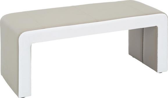 Sitzbank in Schlamm/Weiß - Schlammfarben/Weiß, MODERN, Holz (121/50/50cm) - MODERN LIVING