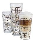 Kaffeeglas Rocco in Glas, ca. 390ml - Klar/Braun, KONVENTIONELL, Glas (0.39l)