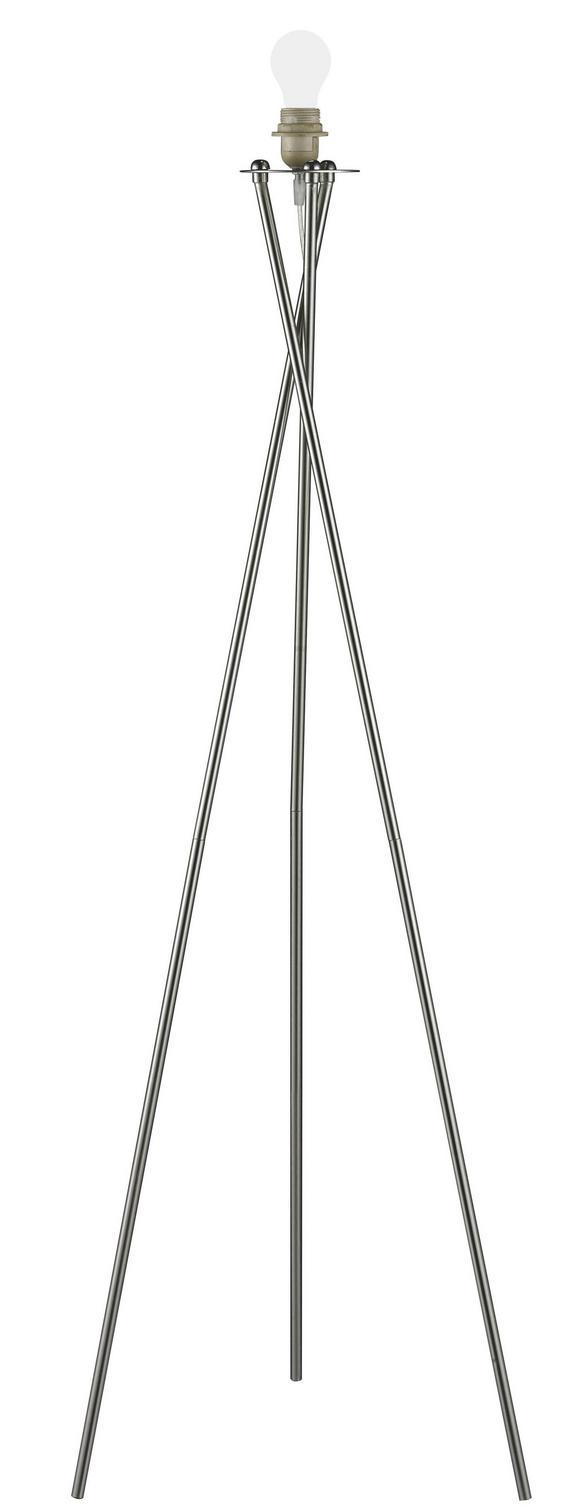 Leuchtenfuß Andrea, max. 60 Watt - Nickelfarben, Metall (145cm) - Mömax modern living