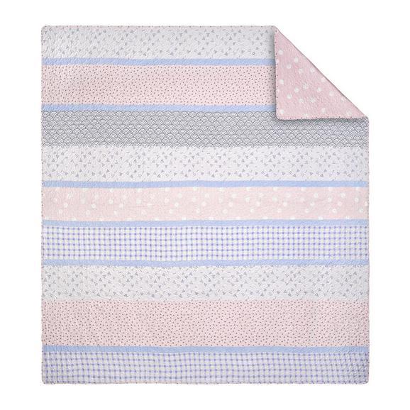 Ágytakaró Ally - Rózsaszín/Fehér, Textil (240/260cm) - Mömax modern living