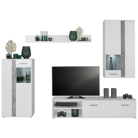 Dnevni Regal Meran Light - siva/črna, Moderno, umetna masa/leseni material (225/190/38cm) - Mömax modern living