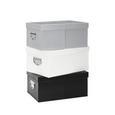 Škatla Za Shranjevanje Willi - siva/črna, Moderno, karton (29/40/19cm) - Mömax modern living