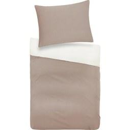 Bettwäsche Belinda ca. 140x200cm - Creme/Grau, Textil (70/90cm) - Premium Living