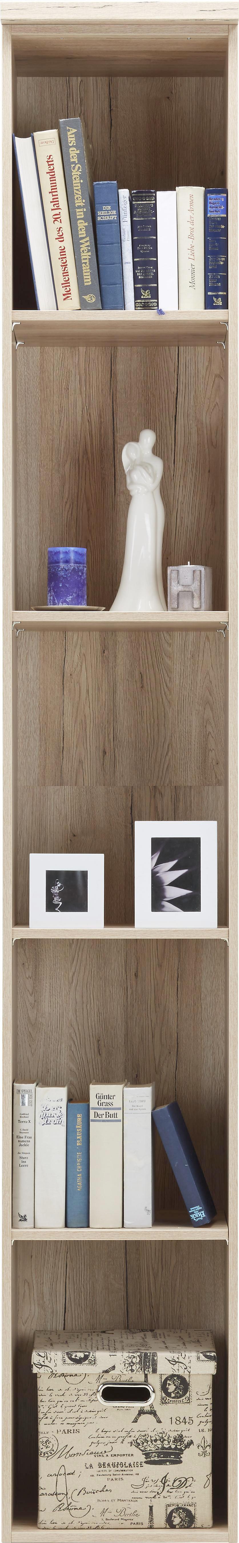 Regal in Eiche, 4 Fächer - Eichefarben, KONVENTIONELL, Holz/Holzwerkstoff (37/234/38cm) - PREMIUM LIVING