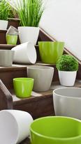 Blumentopf Luisa in verschiedenen Farben - Braun/Weiß, MODERN, Keramik (25,7/21cm) - MÖMAX modern living
