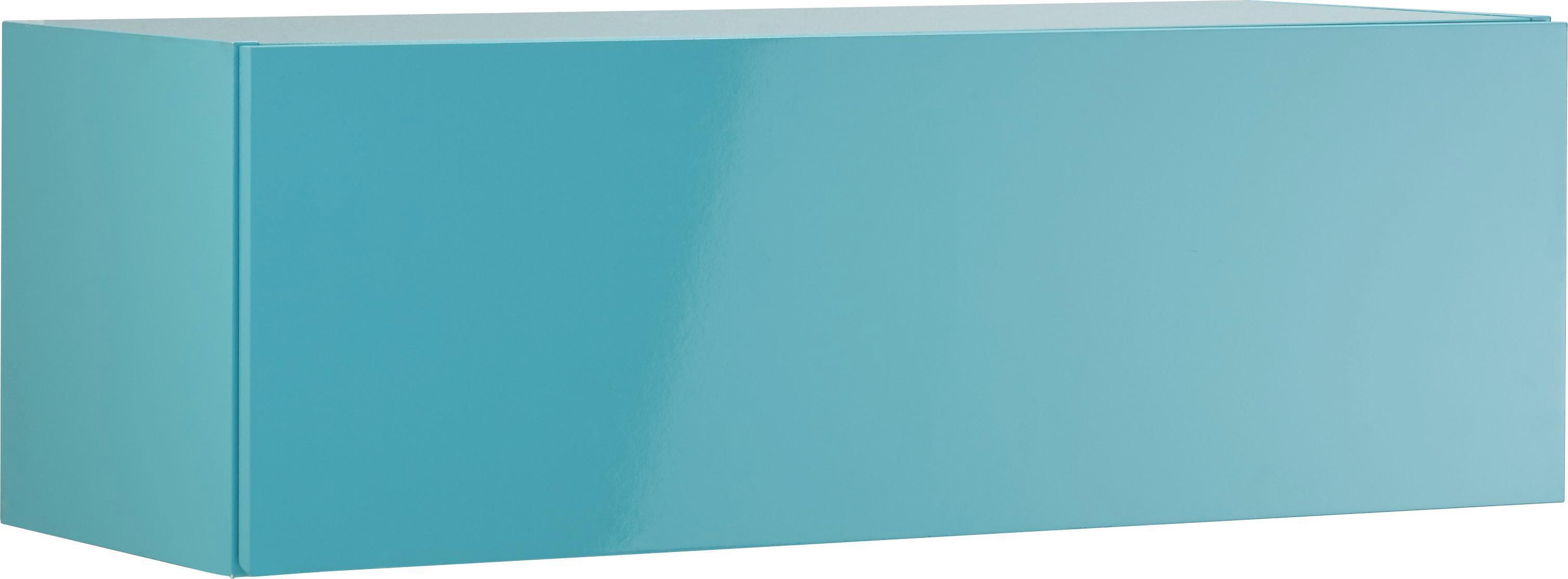 Faliszekrény Match - világos kék, faanyagok (90/30/34cm)