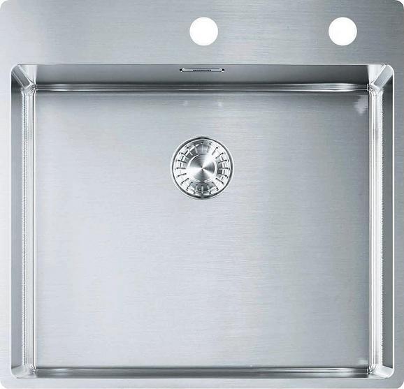 Spüle 1270375342 - Edelstahlfarben, Metall (53/51cm) - Franke